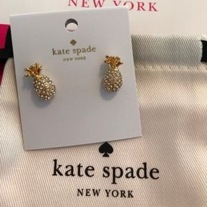 "Kate Spade ""By the Pool"" Pineapple Studs"
